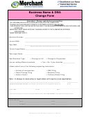 Business Name And Dba Change Form - E-merchant