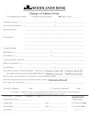 Change Of Address Form - Woodlands Bank