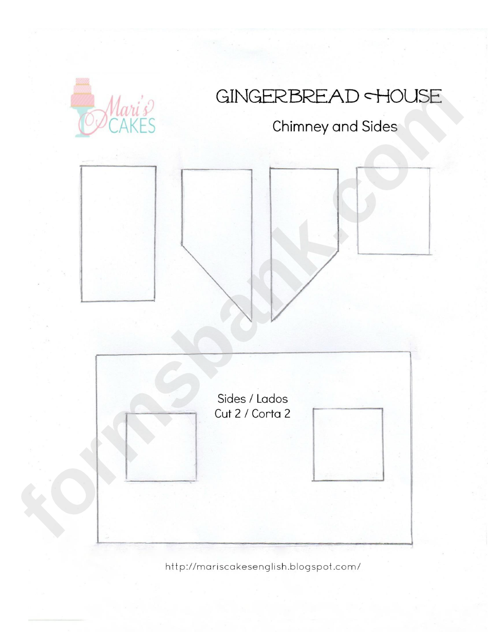 Gingerbread House Template Printable Pdf Download