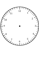 Clock Face Template With Hour And Minute Marks
