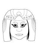 Egyptian Princess Mask Template