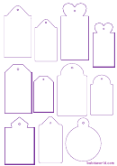 Tag Templates - Purple On White