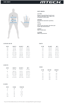 Mtech Leather Suits, Jackets & Gloves Size Chart