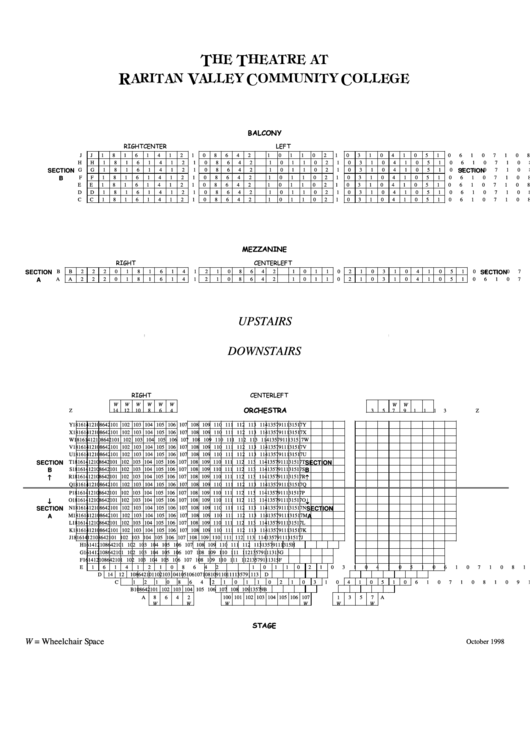 The Theatre At Raritan Valley Community College Seating Chart