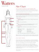 Watters Women Size Chart