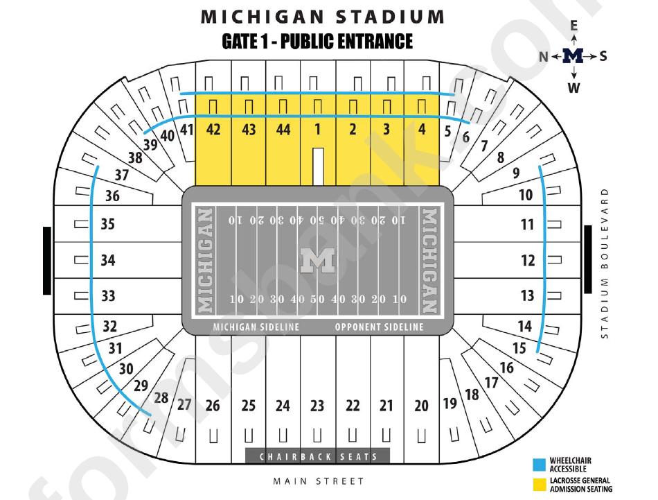 Michigan Stadium Seating Chart