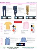 Jack L. Marcus Company Women's Clothing Size Chart