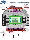 Ford Field - General Map - Game Day - Detroit Lions