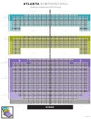 Atlanta Symphony Hall Seating Chart