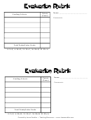 Evaluation Rubric Template