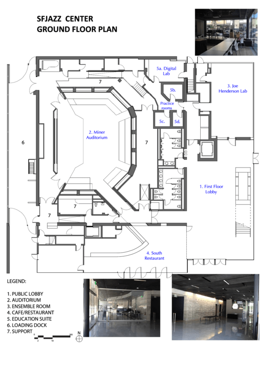 sfjazz center ground floor plan printable pdf download