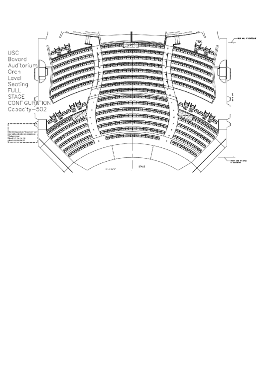 usc bovard auditorium seating chart printable pdf download