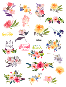 Easter Flower Templates