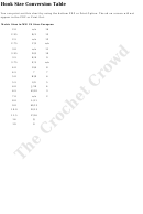 Crochet Hook Size Conversion Table - The Crochet Crowd