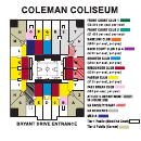 Seating Chart Coleman Coliseum