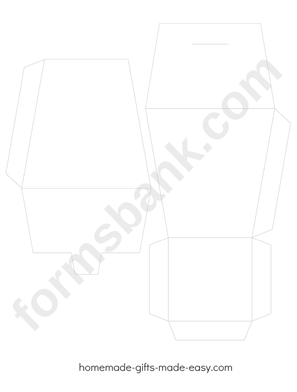 Chinese Takeout Box Template printable pdf download