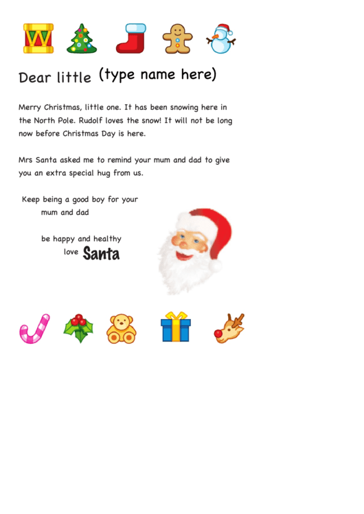 Fillable Santa Letter Template Printable Pdf Download