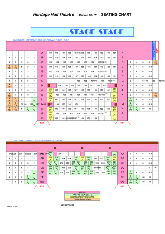 Top 60 Theatre Seating Charts Free To Download In Pdf Format
