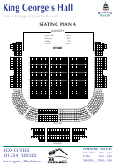 King Georges Hall Seating Plan A