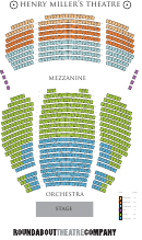 Henry Miller's Theatre Seating Chart