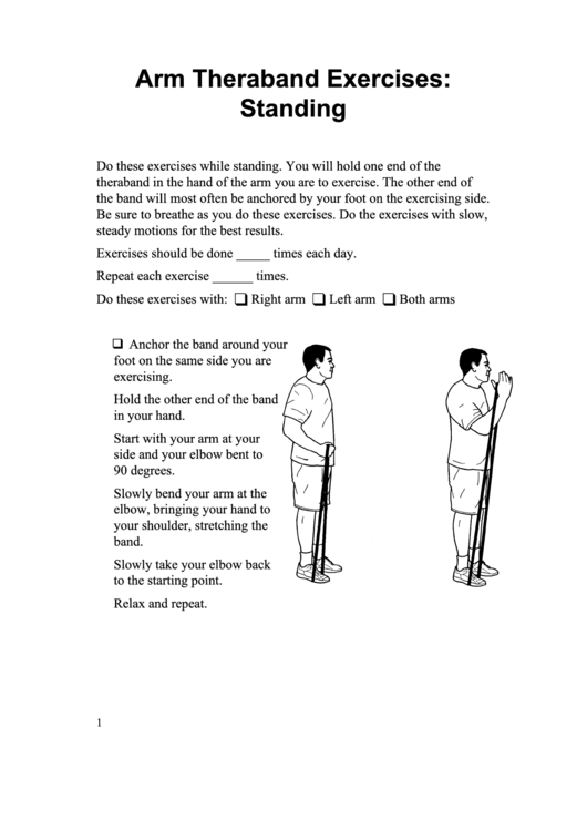 Arm Theraband Exercises: Standing Somali