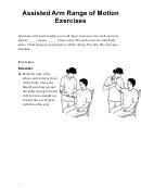 Assisted Arm Range Of Motion Exercises Spanish