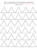 30 1.5-inch Triangles Sewing Template