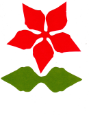 Red And Green Leaves Template