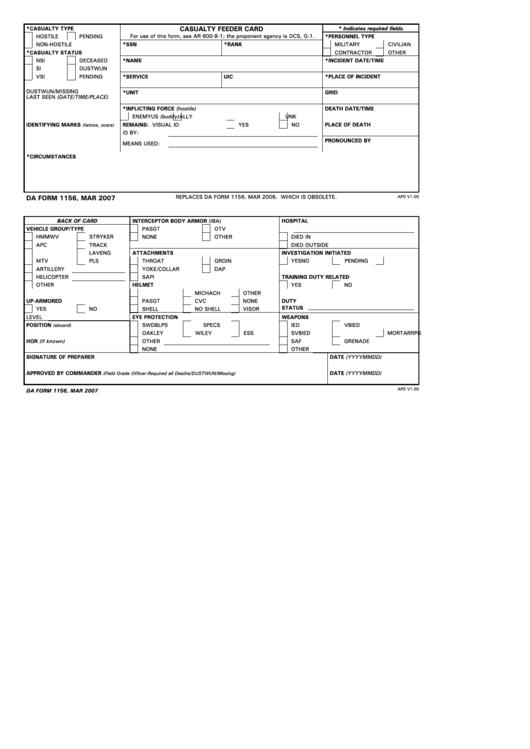 da form 1156  mar 2007 printable pdf download