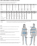 Men's And Women's Clothing Size Chart