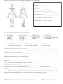 Body Chart Pain/symptoms