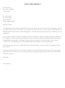 General Resume Cover Letter Sample