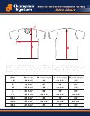 Champion System Men Technical Performance Jersey Size Chart
