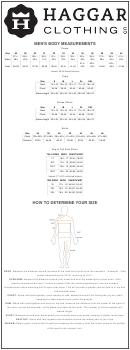 Haggar Clothing Size Chart