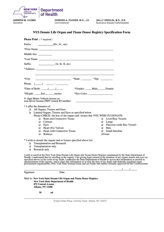 Enrollment Form - New York State Department Of Health ...