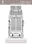 Auditorium Concert Seating Plan - Adelaide Town Hall