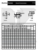Mutual Screw Head Dimensions And Drive Size Chart