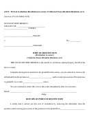 Writ Of Restitution (restitution To Owner)