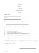 Acceptance Of Court Paper For Dissolution Of Marriage