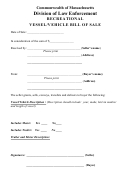 Bill Of Sale For Vehicle