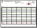 Sample Budget/weekly Meal Plan Template