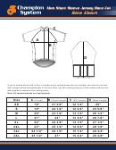 Champion System Men Short Sleeve Jersey Race Cut Size Chart