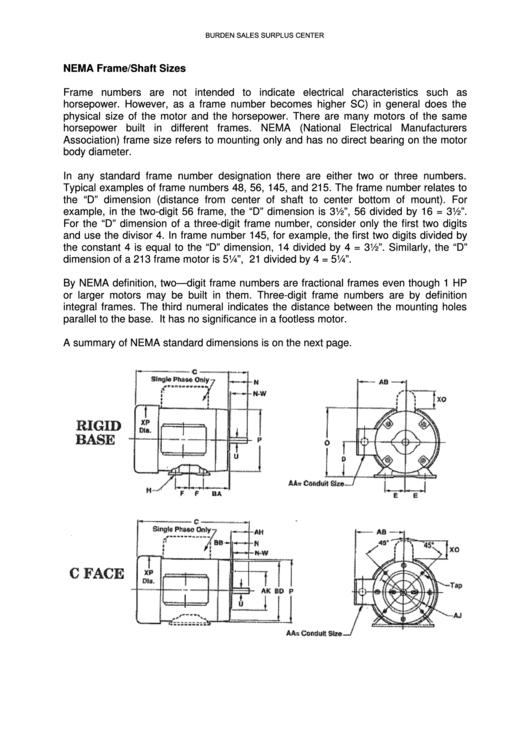 motor frame size chart - Erkal.jonathandedecker.com