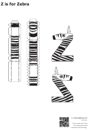 Z Is For Zebra Papercraft