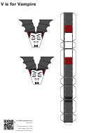 V Is For Vampire Papercraft