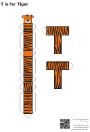 T Is For Tiger Papercraft