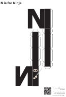 N Is For Ninja Papercraft