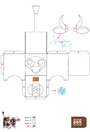 Cow Paper Toy Box Template