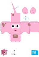 Pig Paper Toy Box Template