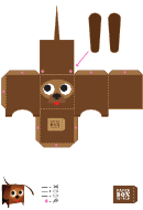 Dog Paper Toy Box Template
